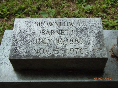 BARNETT, BROWNLOW P. - Marion County, Tennessee | BROWNLOW P. BARNETT - Tennessee Gravestone Photos