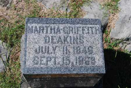 GRIFFITH DEAKINS, MARTHA - Marion County, Tennessee | MARTHA GRIFFITH DEAKINS - Tennessee Gravestone Photos