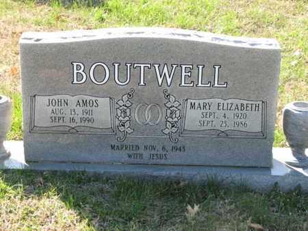 BOUTWELL, JOHN AMOS - Marshall County, Tennessee | JOHN AMOS BOUTWELL - Tennessee Gravestone Photos