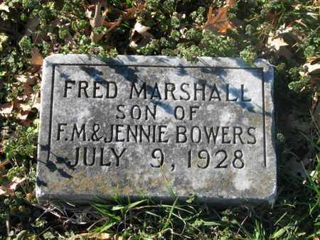 BOWERS, FRED MARSHALL - Marshall County, Tennessee | FRED MARSHALL BOWERS - Tennessee Gravestone Photos