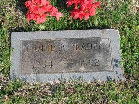 REYNOLDS BRADEN, LIDDIE - Marshall County, Tennessee | LIDDIE REYNOLDS BRADEN - Tennessee Gravestone Photos