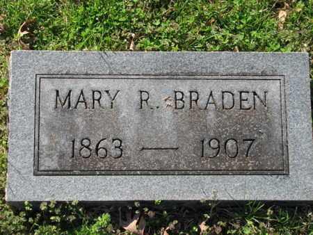 BRADEN, MARY R. - Marshall County, Tennessee   MARY R. BRADEN - Tennessee Gravestone Photos