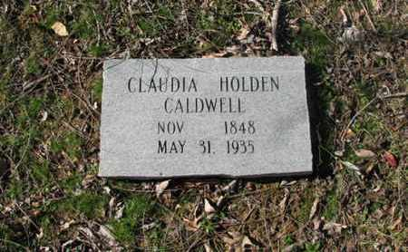 HOLDEN CALDWELL, CLAUDIA - Marshall County, Tennessee | CLAUDIA HOLDEN CALDWELL - Tennessee Gravestone Photos
