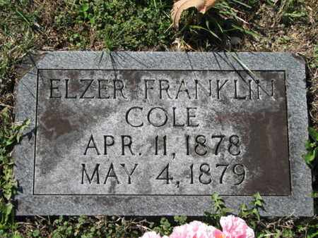 COLE, ELZER FRANKLIN - Marshall County, Tennessee | ELZER FRANKLIN COLE - Tennessee Gravestone Photos