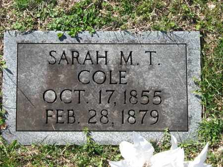 COLE, SARAH M. T. - Marshall County, Tennessee   SARAH M. T. COLE - Tennessee Gravestone Photos