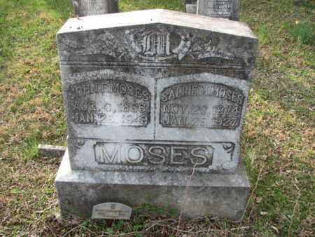 MOSES, JOHN F. - Marshall County, Tennessee | JOHN F. MOSES - Tennessee Gravestone Photos