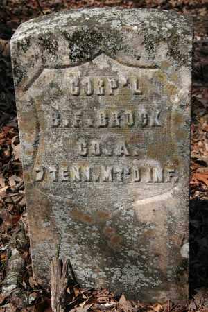 BROCK (VETERAN UNION), B. F. - McMinn County, Tennessee | B. F. BROCK (VETERAN UNION) - Tennessee Gravestone Photos