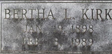 KIRK, BERTHA L. - McNairy County, Tennessee   BERTHA L. KIRK - Tennessee Gravestone Photos
