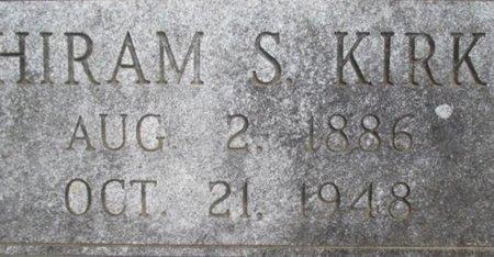 KIRK, HIRAM S. - McNairy County, Tennessee   HIRAM S. KIRK - Tennessee Gravestone Photos