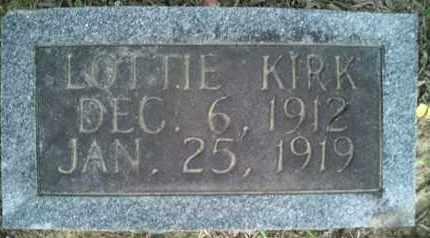 KIRK, LOTTIE - McNairy County, Tennessee | LOTTIE KIRK - Tennessee Gravestone Photos