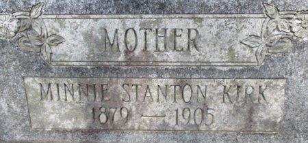 KIRK, MINNIE - McNairy County, Tennessee | MINNIE KIRK - Tennessee Gravestone Photos