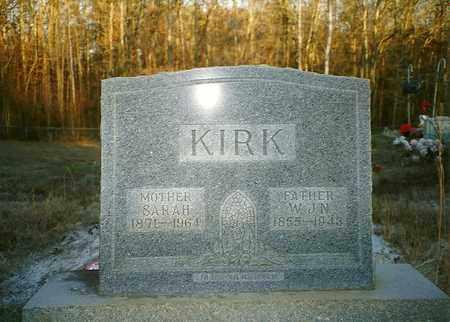 KIRK, SARAH - McNairy County, Tennessee   SARAH KIRK - Tennessee Gravestone Photos