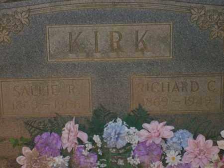 RICHARDSON KIRK, SALLIE - McNairy County, Tennessee | SALLIE RICHARDSON KIRK - Tennessee Gravestone Photos