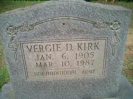 KIRK, VERGIE D. - McNairy County, Tennessee | VERGIE D. KIRK - Tennessee Gravestone Photos
