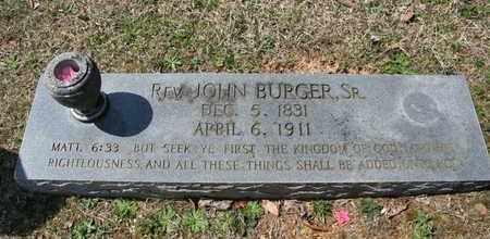 BURGER, JOHN (SR.) - Monroe County, Tennessee | JOHN (SR.) BURGER - Tennessee Gravestone Photos