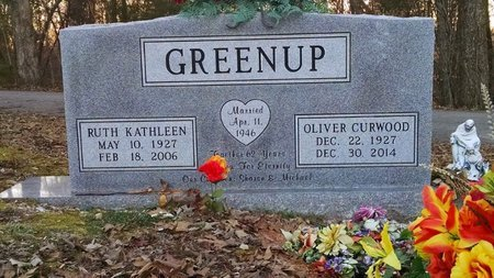 GREENUP, RUTH KATHLEEN - Montgomery County, Tennessee | RUTH KATHLEEN GREENUP - Tennessee Gravestone Photos