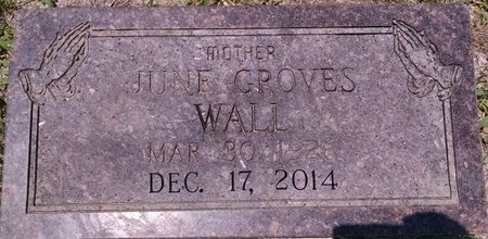 GROVES WALL, JUNE - Montgomery County, Tennessee | JUNE GROVES WALL - Tennessee Gravestone Photos