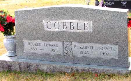 COBBLE, REUBEN EDWARD - Moore County, Tennessee | REUBEN EDWARD COBBLE - Tennessee Gravestone Photos