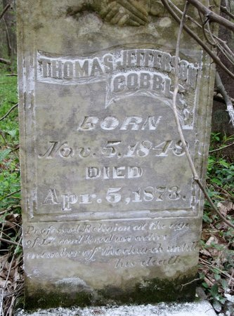 COBBLE, THOMAS JEFFERSON (CLOSE UP) - Moore County, Tennessee | THOMAS JEFFERSON (CLOSE UP) COBBLE - Tennessee Gravestone Photos