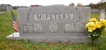 MCPETERS, GRANVILLE H - Morgan County, Tennessee | GRANVILLE H MCPETERS - Tennessee Gravestone Photos