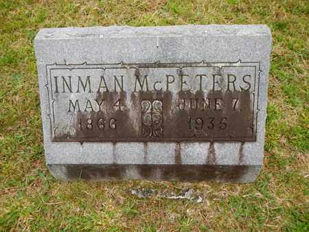 MCPETERS, INMAN - Morgan County, Tennessee | INMAN MCPETERS - Tennessee Gravestone Photos