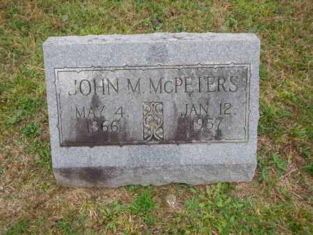 MCPETERS, JOHN M - Morgan County, Tennessee | JOHN M MCPETERS - Tennessee Gravestone Photos