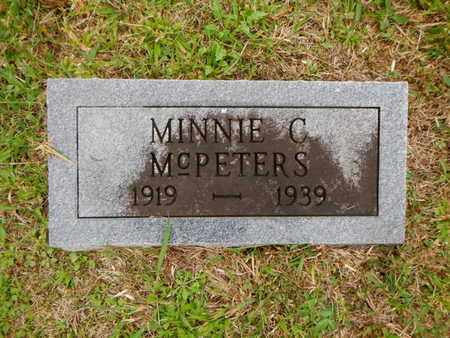 MCPETERS, MINNIE C - Morgan County, Tennessee | MINNIE C MCPETERS - Tennessee Gravestone Photos