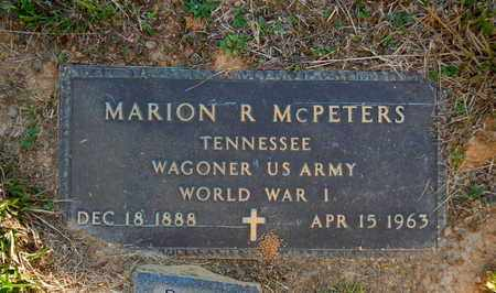 MCPETERS  (VETERAN WWI), MARION R - Morgan County, Tennessee | MARION R MCPETERS  (VETERAN WWI) - Tennessee Gravestone Photos