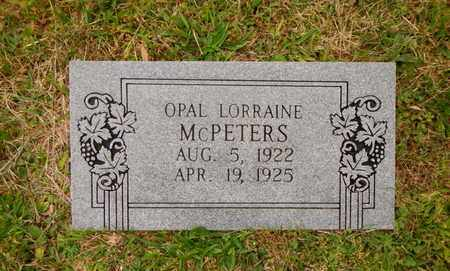 MCPETERS, OPAL LORRAINE - Morgan County, Tennessee | OPAL LORRAINE MCPETERS - Tennessee Gravestone Photos