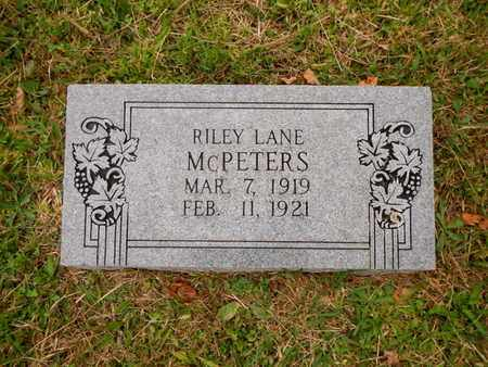 MCPETERS, RILEY LANE - Morgan County, Tennessee | RILEY LANE MCPETERS - Tennessee Gravestone Photos
