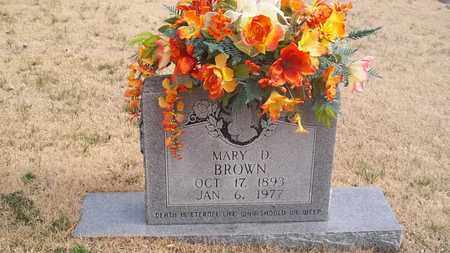 BROWN, MARY D. - Overton County, Tennessee | MARY D. BROWN - Tennessee Gravestone Photos