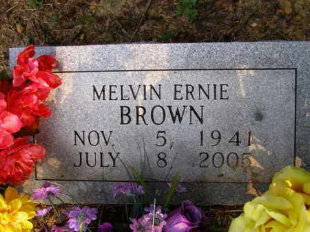 BROWN, MELVIN ERNIE - Overton County, Tennessee | MELVIN ERNIE BROWN - Tennessee Gravestone Photos