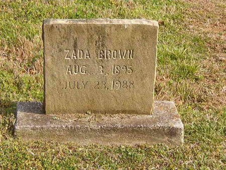 BROWN, ZADA - Overton County, Tennessee | ZADA BROWN - Tennessee Gravestone Photos