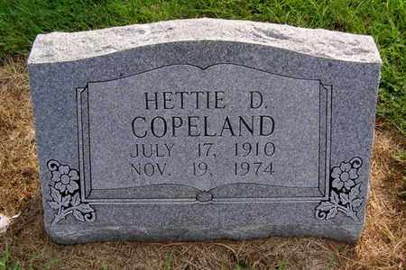 COPELAND, HETTIE D. - Overton County, Tennessee | HETTIE D. COPELAND - Tennessee Gravestone Photos