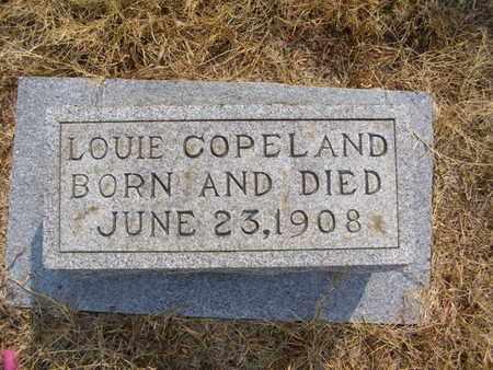 COPELAND, LOUIE - Overton County, Tennessee   LOUIE COPELAND - Tennessee Gravestone Photos