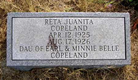 COPELAND, RETA JUANITA - Overton County, Tennessee | RETA JUANITA COPELAND - Tennessee Gravestone Photos