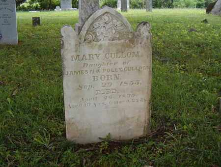 CULLOM, MARY - Overton County, Tennessee | MARY CULLOM - Tennessee Gravestone Photos
