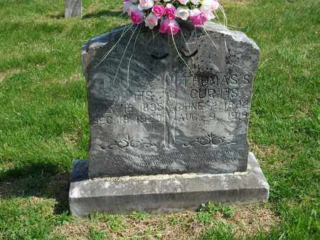 CURTIS, THOMAS S. - Overton County, Tennessee   THOMAS S. CURTIS - Tennessee Gravestone Photos