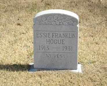 HOGUE, ESSIE - Overton County, Tennessee | ESSIE HOGUE - Tennessee Gravestone Photos