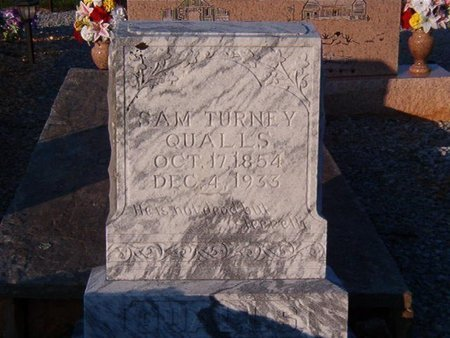 QUALLS, SAM TURNEY - Overton County, Tennessee | SAM TURNEY QUALLS - Tennessee Gravestone Photos