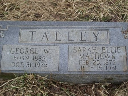 TALLEY, SARAH ELLIE  - Overton County, Tennessee | SARAH ELLIE  TALLEY - Tennessee Gravestone Photos
