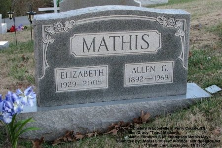 THOMPSON MATHIS, MAMIE ELIZABETH - Perry County, Tennessee | MAMIE ELIZABETH THOMPSON MATHIS - Tennessee Gravestone Photos
