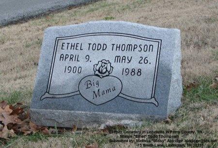 TODD THOMPSON, MAMIE ETHEL - Perry County, Tennessee | MAMIE ETHEL TODD THOMPSON - Tennessee Gravestone Photos