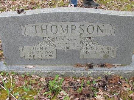 HURT THOMPSON, ETHEL E. - Pickett County, Tennessee | ETHEL E. HURT THOMPSON - Tennessee Gravestone Photos
