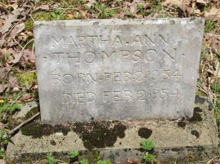 THOMPSON, MARTHA ANN - Pickett County, Tennessee   MARTHA ANN THOMPSON - Tennessee Gravestone Photos