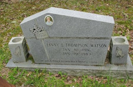 THOMPSON WATSON, FANNIE E. - Pickett County, Tennessee | FANNIE E. THOMPSON WATSON - Tennessee Gravestone Photos