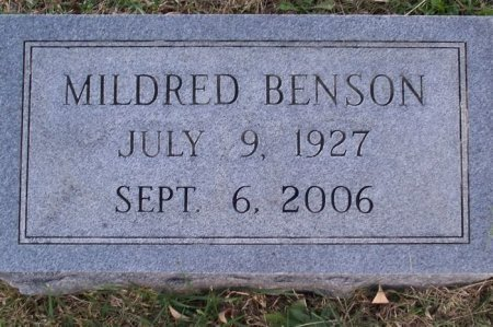 BENSON, MILDRED - Putnam County, Tennessee | MILDRED BENSON - Tennessee Gravestone Photos