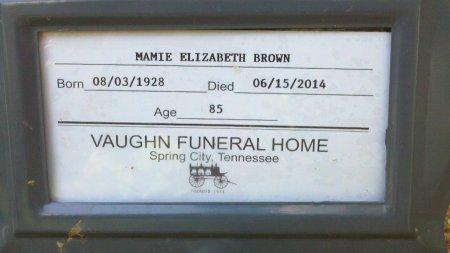 BROWN, MAMIE ELIZABETH - Rhea County, Tennessee | MAMIE ELIZABETH BROWN - Tennessee Gravestone Photos