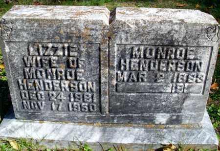 HENDERSON, LIZZIE - Rhea County, Tennessee   LIZZIE HENDERSON - Tennessee Gravestone Photos