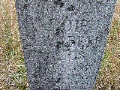 JILES, ADDIE ELIZABETH - Rhea County, Tennessee | ADDIE ELIZABETH JILES - Tennessee Gravestone Photos